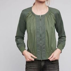 Anthropologie Hei Hei Hilltop Ruched Bomber Jacket